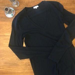 J. Crew Tissue Long-sleeve V-neck T-shirt